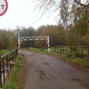 Мост на Новгородской ул. у дома №91 в пос. Дибуны