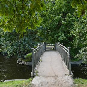 Мост на острове реки Крестовки