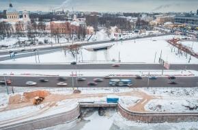 Мост Обуховской обороны через Монастырку