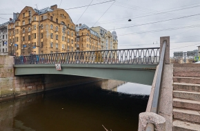 Петропавловский мост  через Карповку