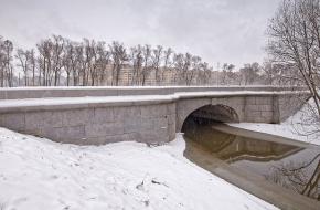 Мост через новое русло р. Дудергофки через Дудергофку