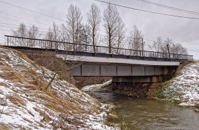 Мост по Авиационной улице в Горелово через Дудергофку