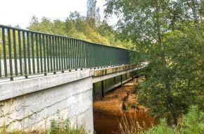 Мост на подъездной дороге через Сестру