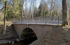Мост на Волхонском шоссе №1 через Кузьминку