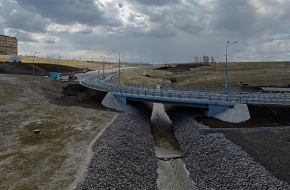 Мост через реку Пулковку у Петербургского шоссе