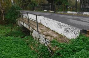 Мост на Новгородской ул. у дома №25 в пос. Дибуны