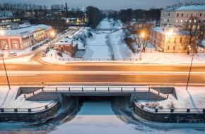 Казачий мост  через Монастырку